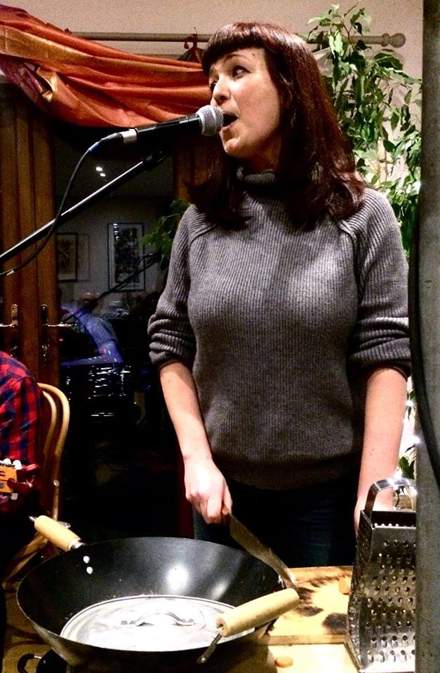 Singing in the kitchen