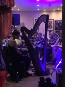 Harp in the kitchen